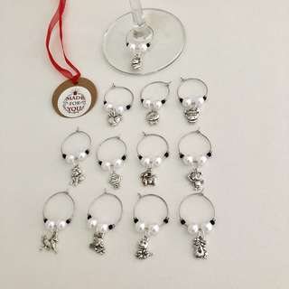 🚚 Chinese Zodiac Wine Charm (set of 12)