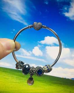 Authentic Pandora Bangle 'always in my heart'