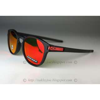 429ec525e2 Brand New Oakley Latch matte black + prizm ruby OO9265-2953