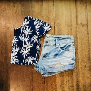 NEW✨ Cute Dark Blue Palm Top