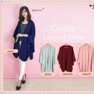 camile outer in navy(turun harga)