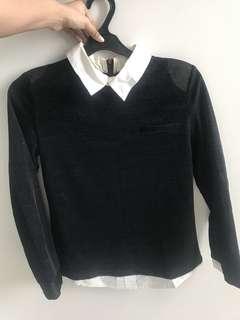 shirt , kemeja hitam, wanita