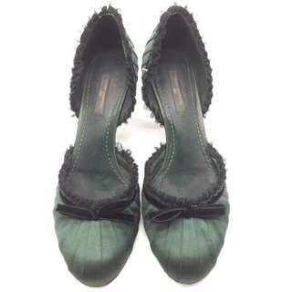 * LV Green Pumps - LV 綠色短跟鞋