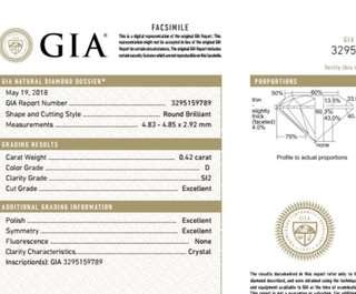 GIA 鑽石 0.42 D SI2 3EX N
