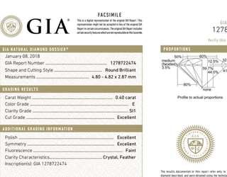 GIA 鑽石 0.40 E SI1 3EX FNT
