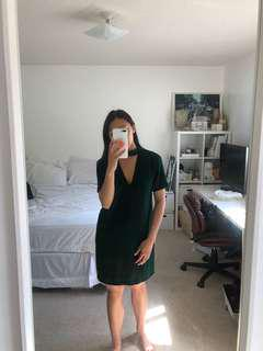Zara V Neck Dress Small