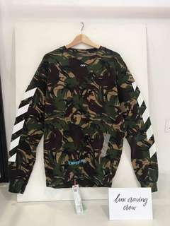 Authentic OFF White Camouflage Ss18 Sweatshirt New with Tags