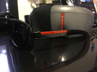 Prada Sport Polarized Sunglasses SPS 54I-5Z1 Gunmetal Frames with Gray