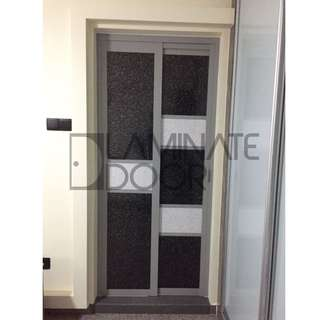 Slide and Swing Toilet Door for HDB/BTO at $700 for 2 unit