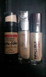 Foundation TAKE ALL  $70 ONLY! ! AUTHENTIC NEW!