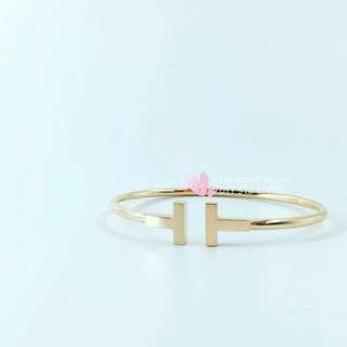 Tiffany 18k Gold Wire Bracelet