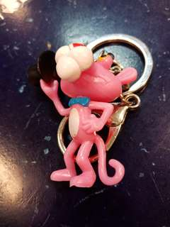 Pink panther key chain