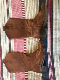 Ladies vintage leather cowboy boots
