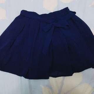 🚚 雪紡寶藍褲裙,吊牌已剪
