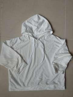 Woman top hoodie white