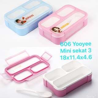 LUNCH BOX MINI YOOYEE 606 / LUNCH BOX GRID / BENTO KIDS / TEMPAT MAKAN