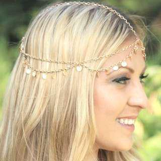 🚚 Golden tassel head chain headchain