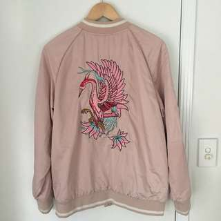 Super cute baby pink bomber jacket !!