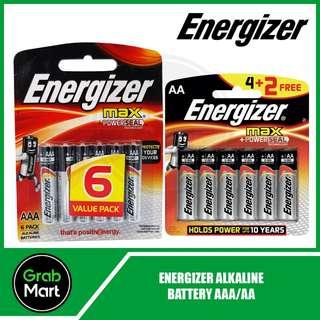 ENERGIZER ALKALINE BATTERIES 6 VALUE PACK