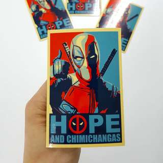 DeadPool HOPE Sticker - 7cm(W) X 10cm(Ht)