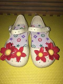 Flower Jelly shoes White