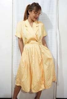 Vintage Yellow 50s Swing Dress