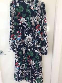 Warehouse winter floral dress