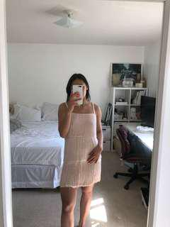 H&M Blush Pink Flapper Summer Dress Small