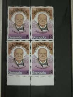 Mint-Block of 4 stamps from Grenada