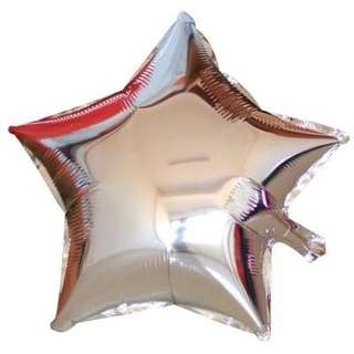 Foil balloons star shaped