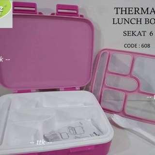 LUNCH BOX YOOYE SEKAT 6 / YOOYEE 608 / LUNCH BOX GRID / BPA FREE