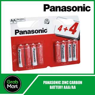 PANASONIC ZINC CARBON BATTERIES 4+4