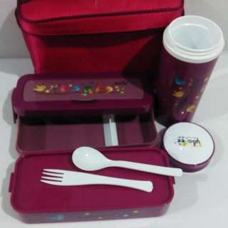 LUNCH BOX YOOYEE SET / 595 / LUNCH BOX BAG BOTOL / KOTAK BEKAL / BESAR