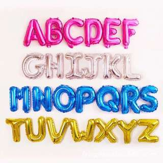 🚚 Happy Birthday Foil Balloon alphabets Party baby Shower