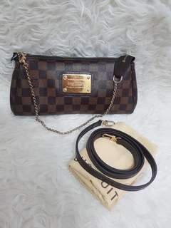 Authentic clucth eva damier with strap