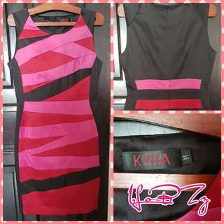 Kyra Black, Pink and Red Dress