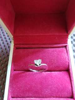 Pink Box 18k Diamond  Pinky Ring
