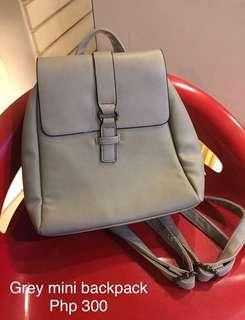 Grey Mini Back Pack