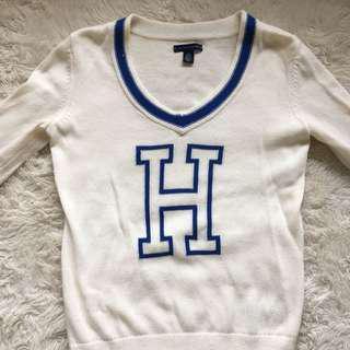 Tommy H Varsity Sweater Size XS