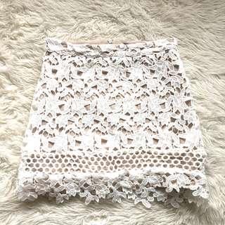 Boohoo Petite Lace Mini Skirt Size 4