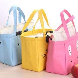 New Lunch Bag  Insulated Cold Oxford Tas Bekal  Tote Penahan Panas - Biru Muda