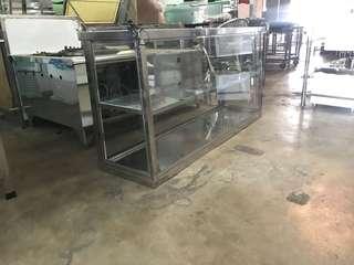 Stainless steel display ayam goreng