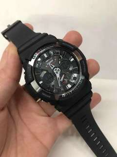 GSHOCK BLACK SILVER WATCH