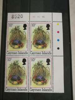 Mint-Block of 4 stamps from Cayman Islands
