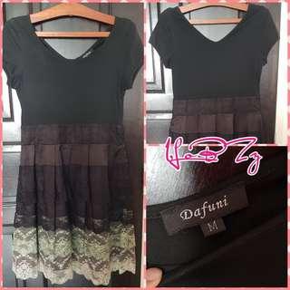 Dafuni Black & White Dress