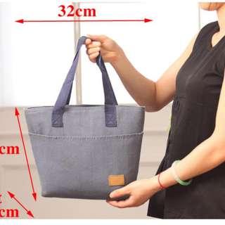 Lunch Cooler Bag Tas bekal dgn lapisan penahan panas/dingin KOREAN - Navy