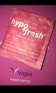 Vagisil hypoallergenic fresh feminine wipes