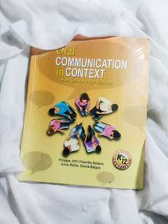 SHS TEXTBOOK: ORAL COMMUNICATION