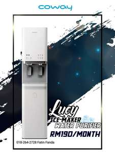 NEW! ICE-MAKER + PURIFIED WATER