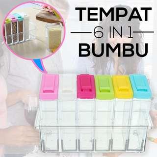 TEMPAT BUMBU DAPUR 6IN1 / SEASONING SET (TEMPAT BUMBU 6IN1)